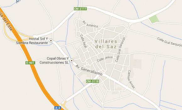 ubicación Villares del Saz